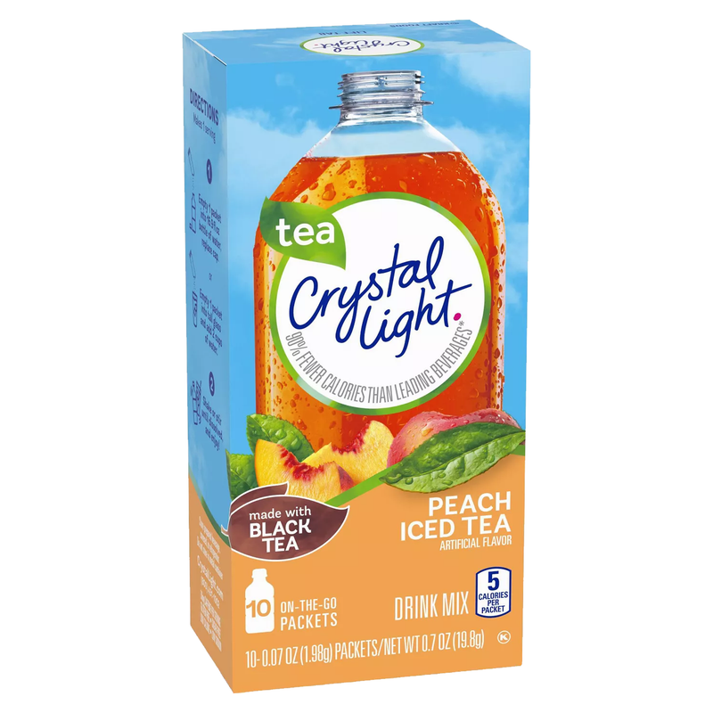 Crystal Light On The Go Peach Iced Tea Drink Mix 19.8g