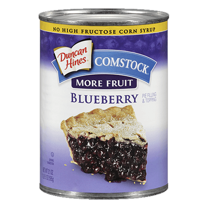 Duncan Hines Comstock More Fruit Blueberry Pie Filling & Topping 595g