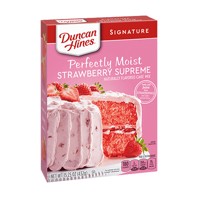 Duncan Hines Signature Strawberry Supreme Cake Mix 432g