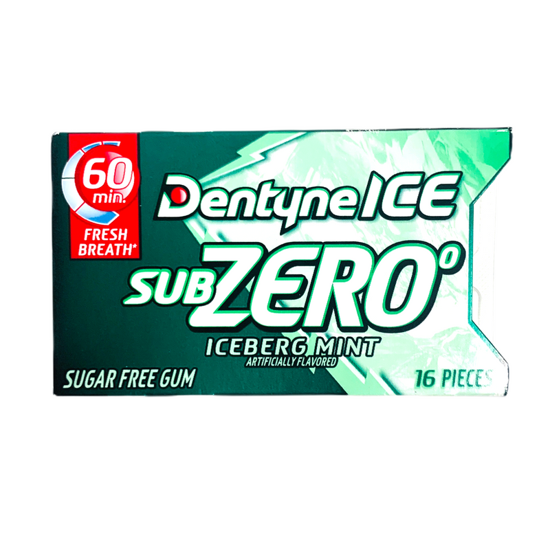 Dentyne Sub Zero Iceburg Mint Sugar Free Gum 16 Pieces