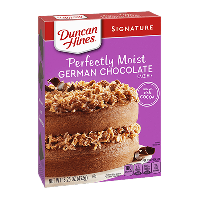 Duncan Hines Signature Perfectly Moist German Chocolate Cake Mix 432g