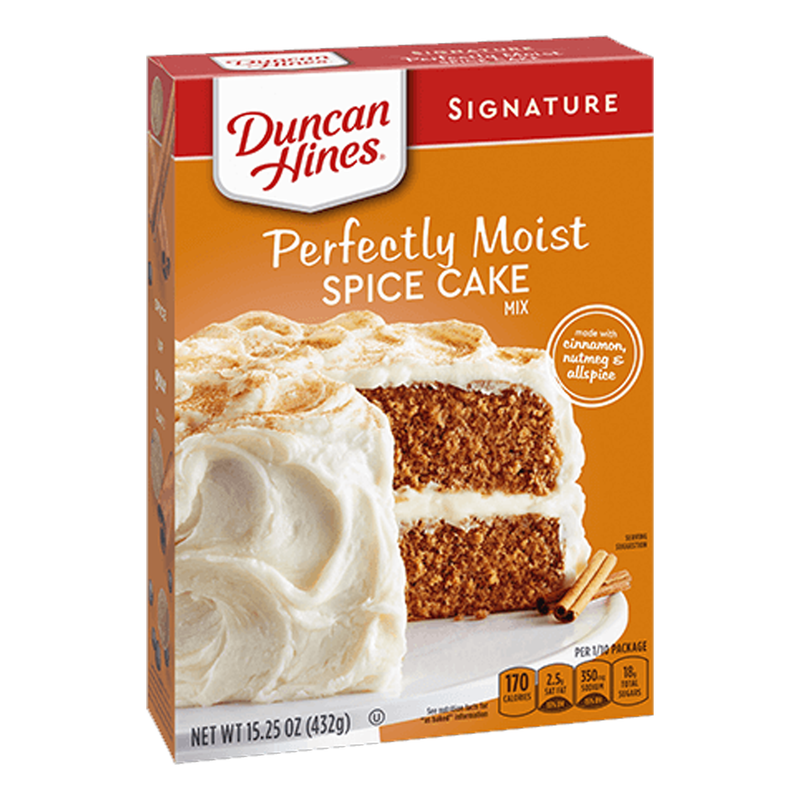 Duncan Hines Signature Perfectly Moist Spice Cake Mix 432g