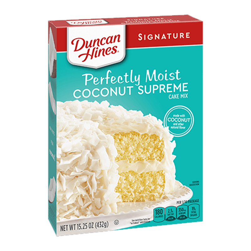 Duncan Hines Signature Perfectly Moist Coconut Supreme Cake Mix 432g