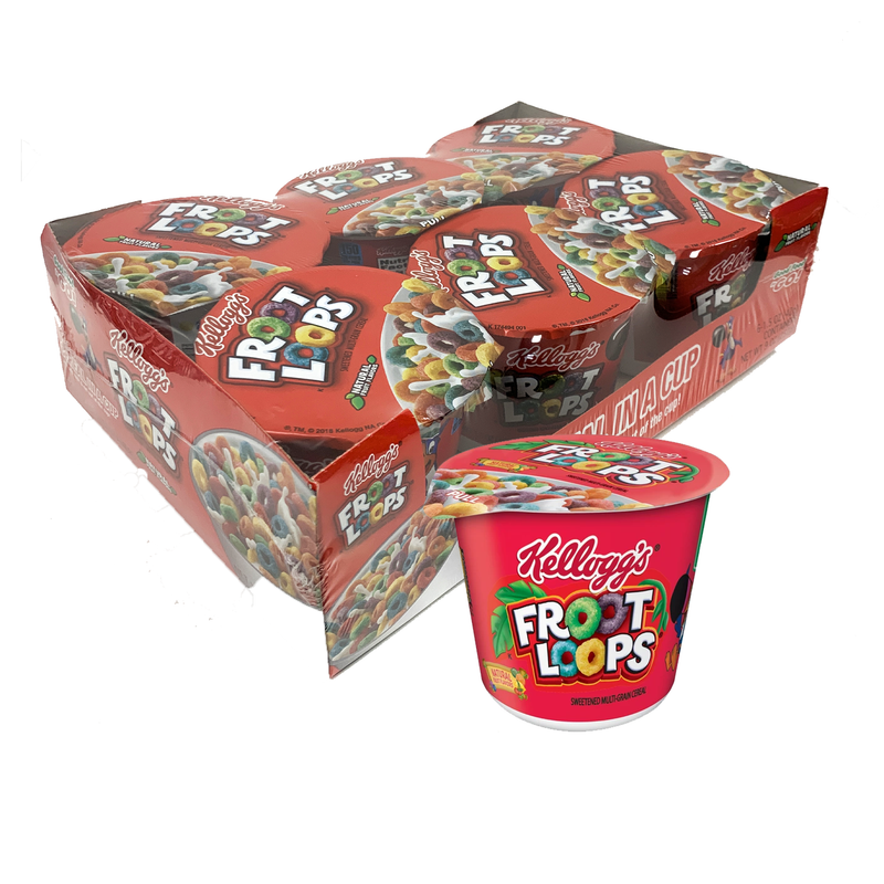 Kellogg's Froot Loops Original Cereal in a Cup 49g