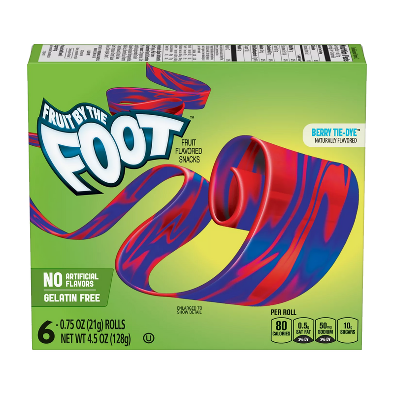 Fruit by the Foot Berry Tie-Dye Fruit Flavoured Snacks 128g