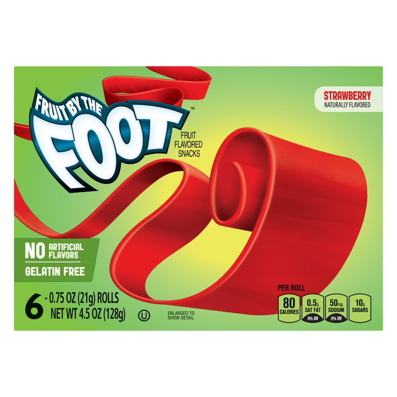 Fruit by the Foot Strawberry Fruit Flavoured Snacks 128g