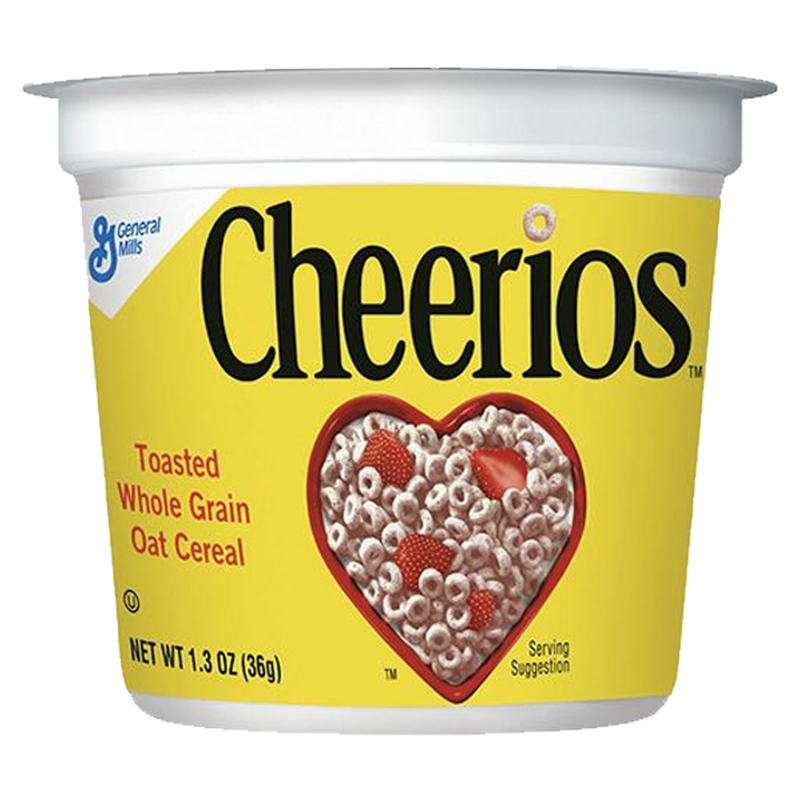 General Mills Cheerios Toasted Whole Grain Oat Cereal in a Cup 36g