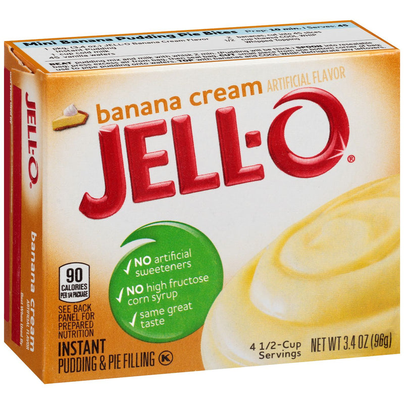 Jell-O Instant Banana Cream Pudding & Pie Filling 96g