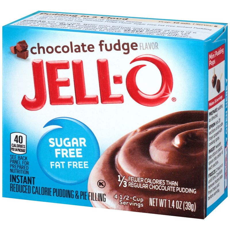 Jell-O Instant Sugar Free-Fat Free Chocolate Fudge Pudding & Pie Filling 39g