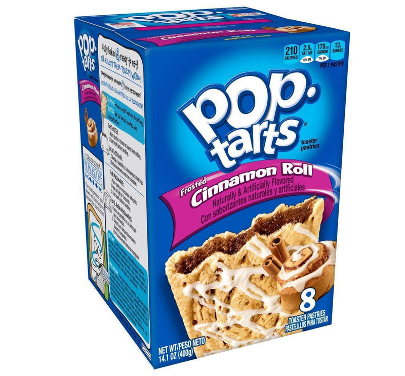 Kellogg's Pop Tarts Cinnamon Roll Toaster Pastries 384g