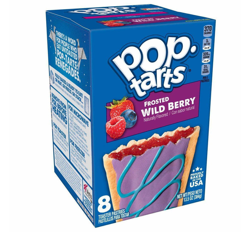 Kellogg's Pop Tarts Wildlious Frosted  Wild Berry Toaster Pastries 384g