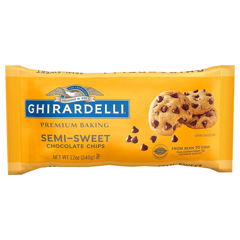 Ghirardelli Premium Baking Semi Sweet Chocolate Chips 340g