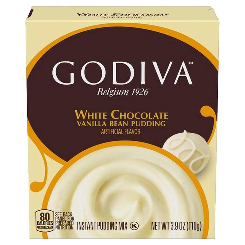 Godiva White Chocolate Vanilla Bean Instant Pudding Mix 110g