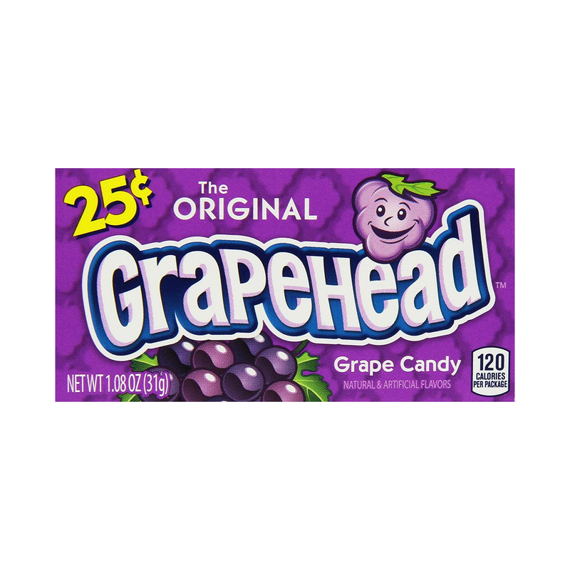 Grapehead The Original Grape Candy 23g