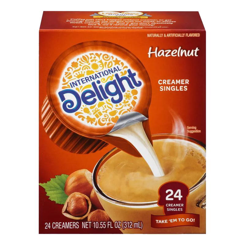 International Delight Hazelnut Creamer 312ml- 24ct