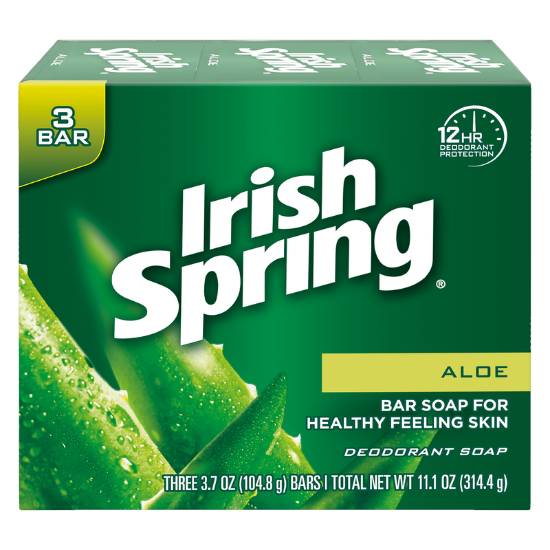 Irish Spring Aloe Deodorant Soap 314.4g (3 x 104.8g)