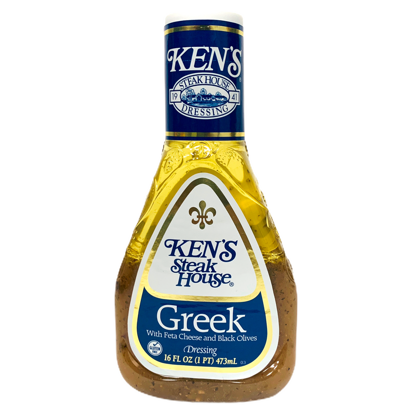Ken's Steak House Greek with Feta Cheese and Black Olive Dressing 473ml