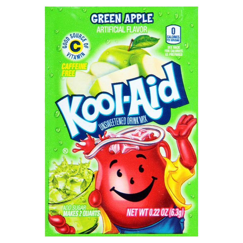 Kool-Aid Green Apple Unsweetened Drink Mix 6.3g