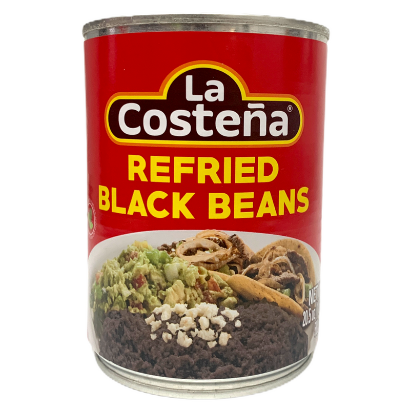 La Costena Refried Black Beans 580g