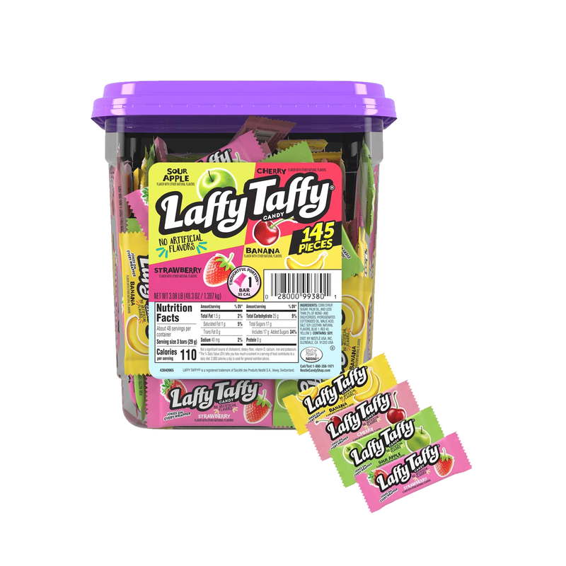 Laffy Taffy Assorted Candy 145 Pieces-Tub