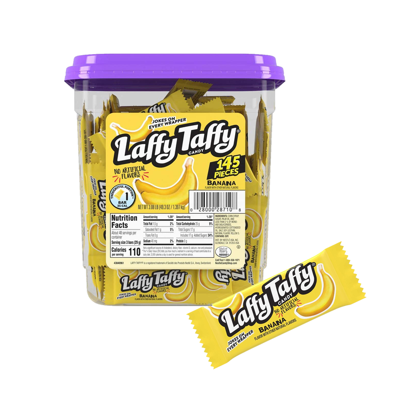 Laffy Taffy Banana Candy 145 Pieces-Tub