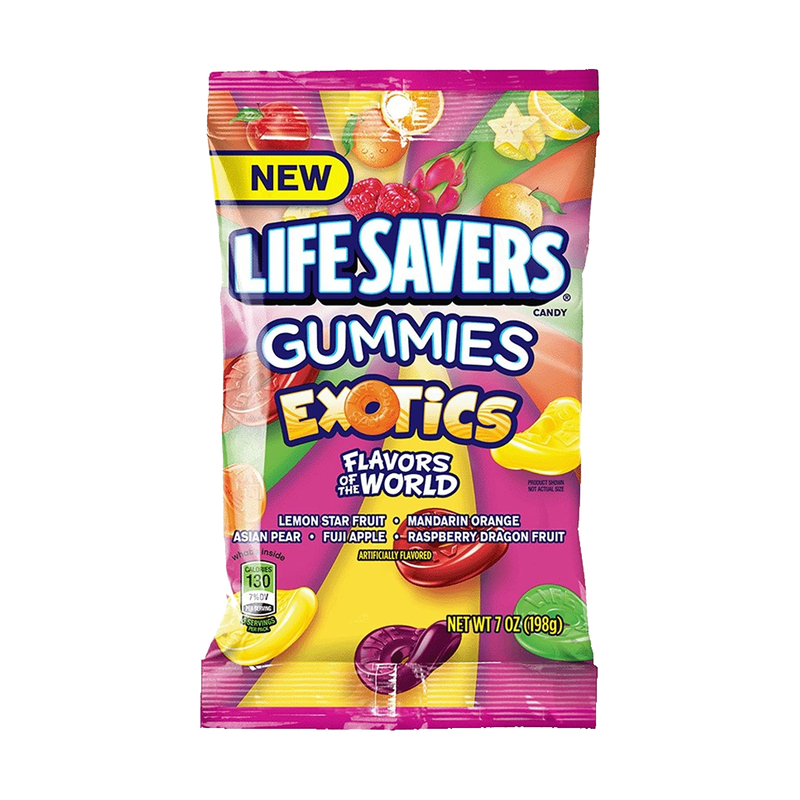 Life Savers Exotics Gummies Candy 198g