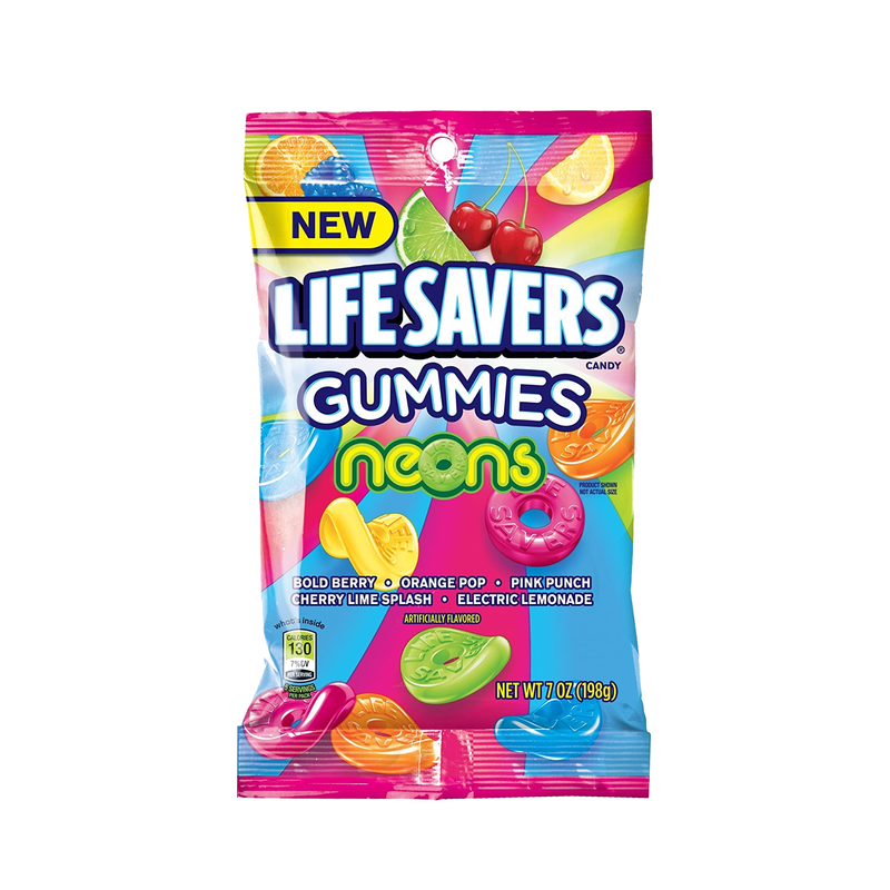 Life Savers Neons Gummies Candy 198g