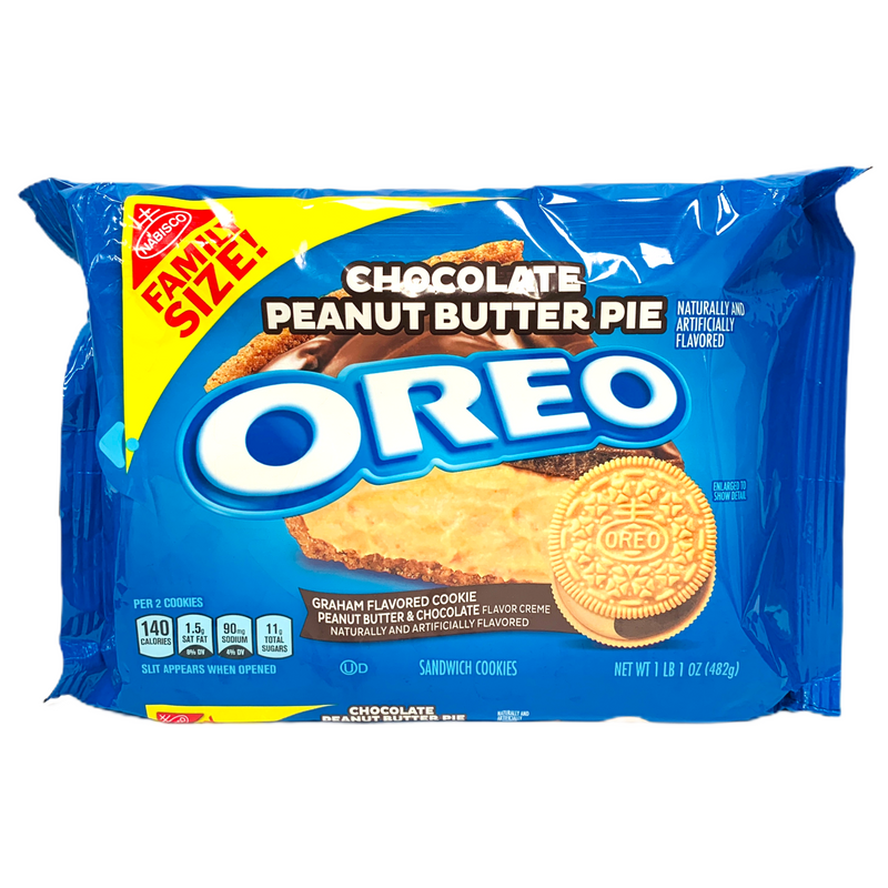 Nabisco Oreo Chocolate Peanut Butter Pie Sandwich Cookies 482g FAMILY SIZE