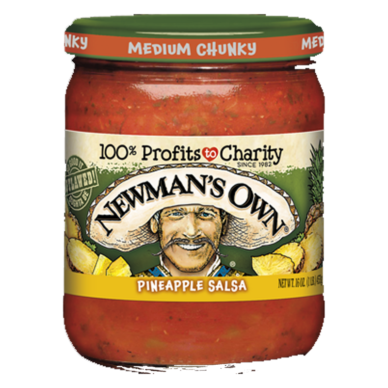 Newman's Own Medium Chunky Pineapple  Salsa 453g