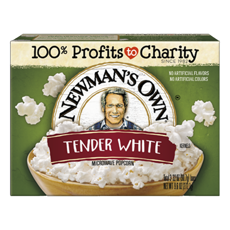 Newman's Own Tender White Microwave Popcorn 272.1g