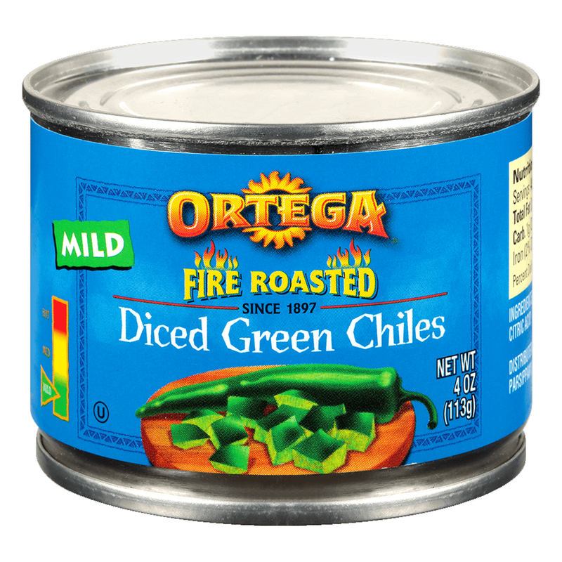 Ortega Fire Roasted Mild Diced Green Chiles 113g