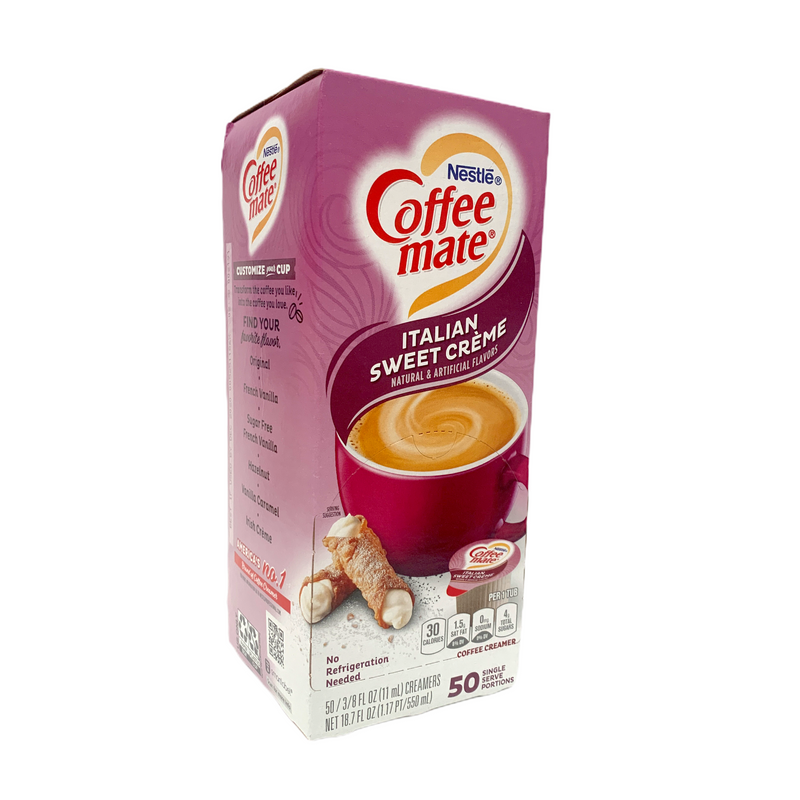 Nestle Coffee Mate Italian Sweet Creme Liquid Coffee Creamer 50ct