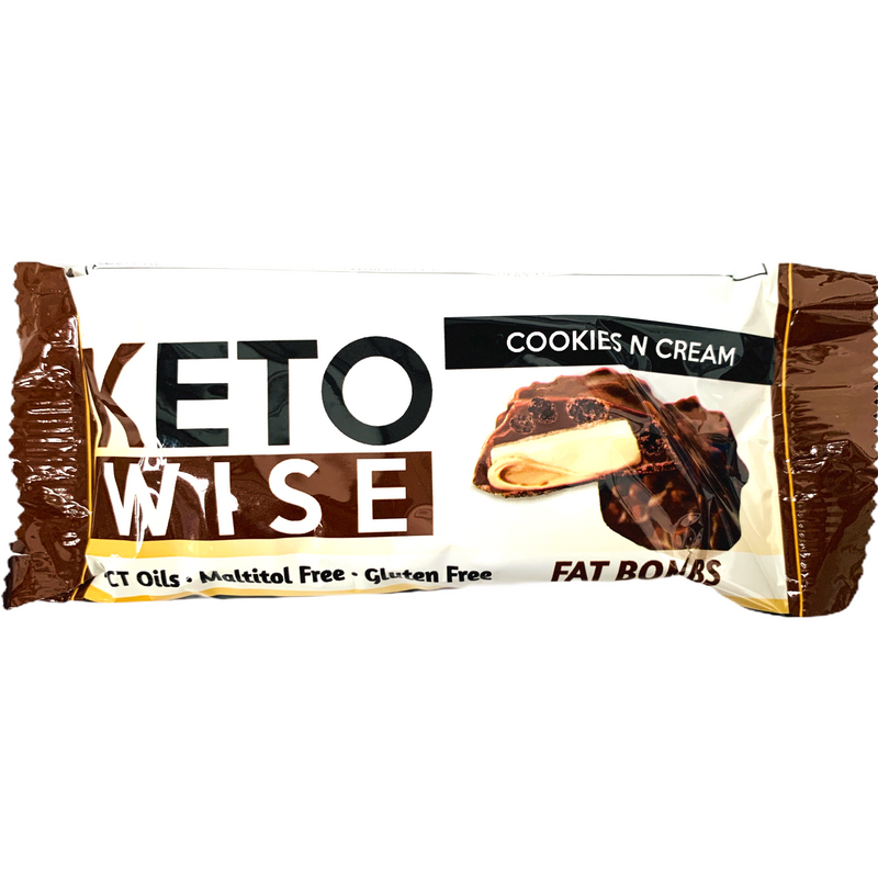 Keto Wise Cookies n Cream Fat Bombs 34g