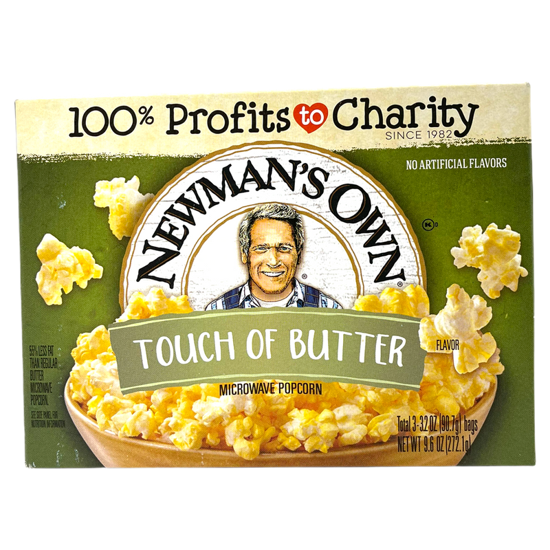 Newman's Own Touch Of Butter Microwave Popcorn 272.1g