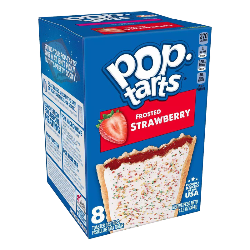 Kellogg's Pop Tarts Frosted Strawberry Toaster Pastries 384g