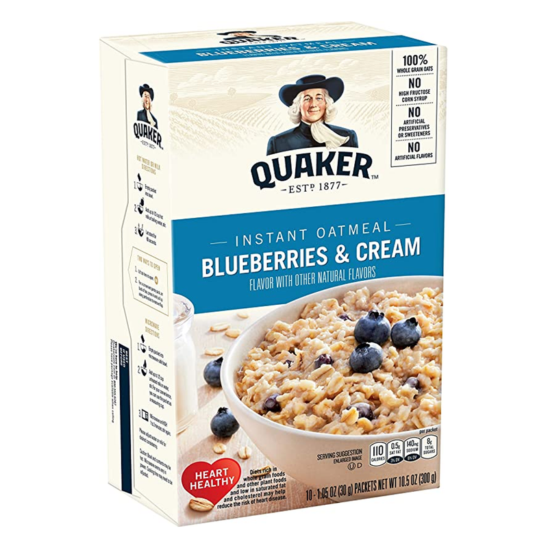 Quaker Instant Oatmeal Blueberries & Cream 300g