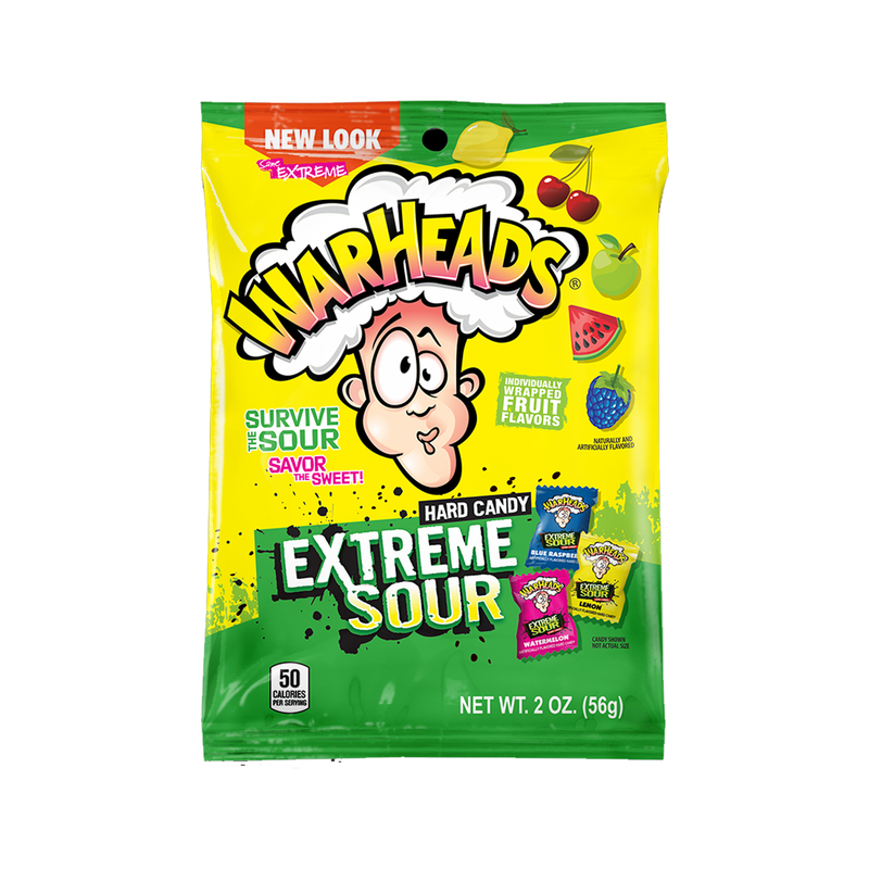 Warheads Extreme Sour Hard Candy Bags 56g