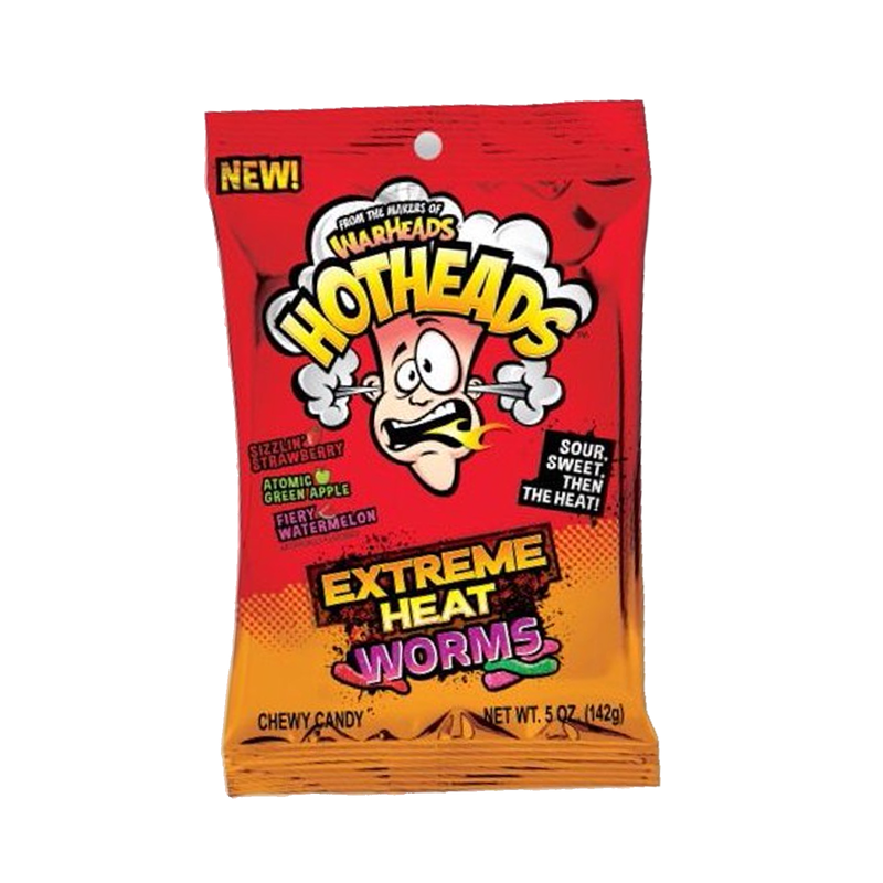 Warheads HotHead Extreme Heat Worms Chewy Bag  142g