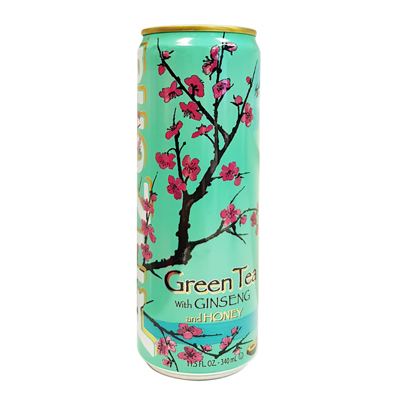 Arizona Green Tea with Ginseng and Honey Slim Cans 340ml