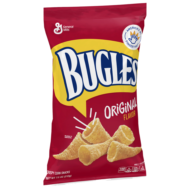 General Mills Bugles Original Crispy Corn Snacks 212g