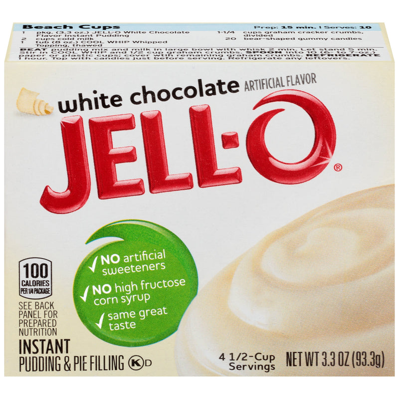 Jell-O White Chocolate Instant Pudding & Pie Filling 96g