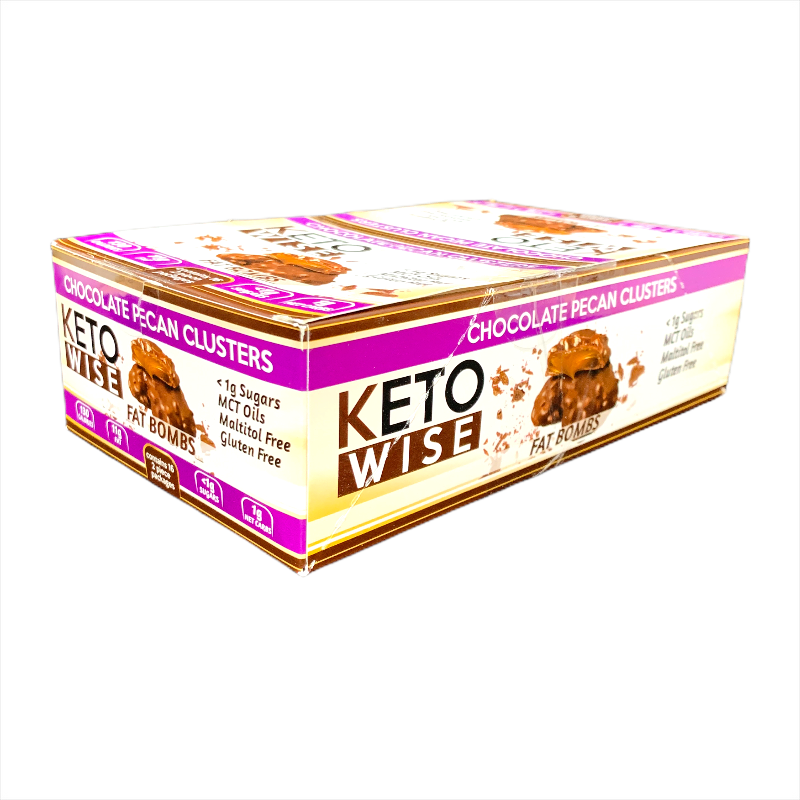 Keto Wise Chocolate Pecan Cluster Fat Bombs 32g