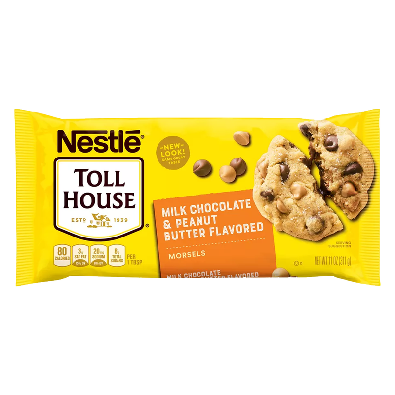 Nestle Toll House Milk Chocolate & Peanut Butter Flavoured Morsel 311g