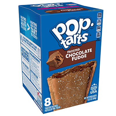 Kellogg's Pop Tarts Frosted Chocolate Fudge Toaster Pastries 384g