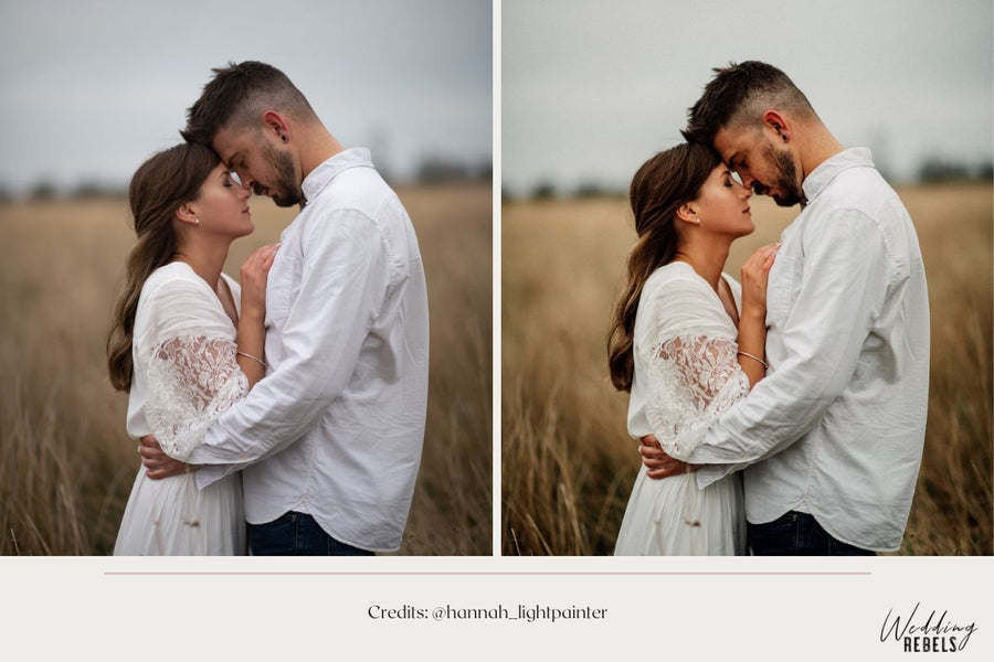 collection of rustic wedding presets for Lightroom