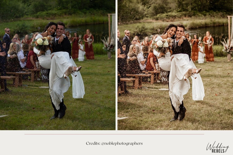 Wedding Lightroom presets for a vintage look