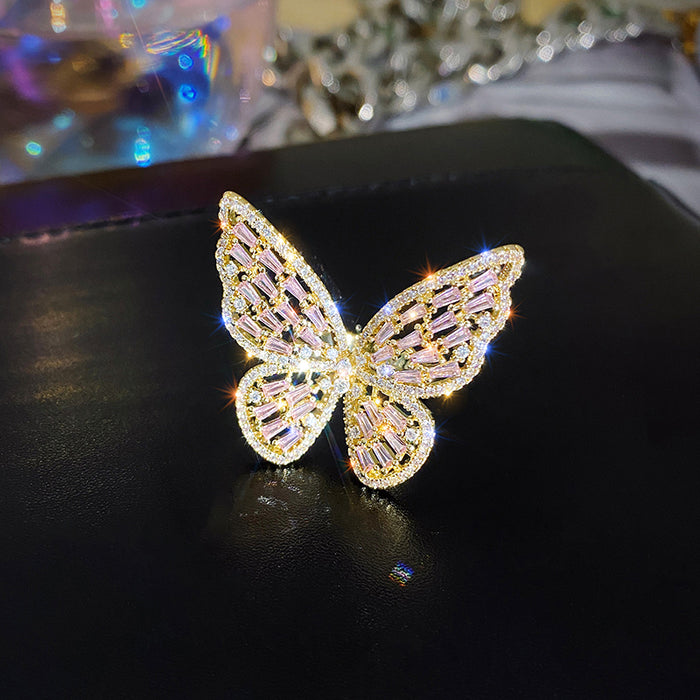 Cialen High-end luxury super fairy butterfly ring LACE