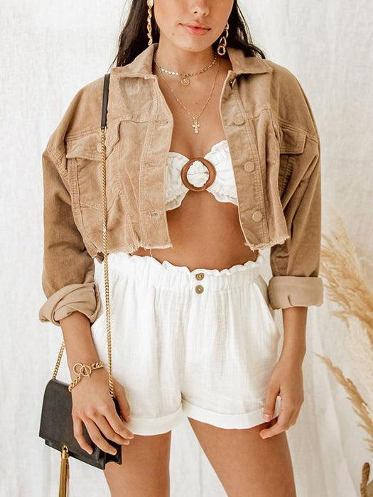 oversized light brown corduroy jacket
