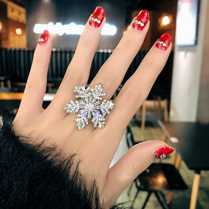 CIALEN Rotating Snowflake Ring LACE
