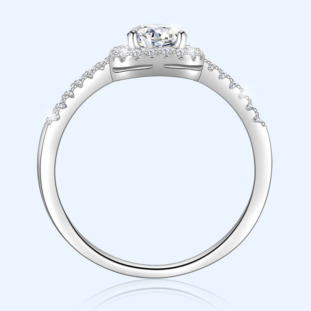 Cialen Square diamond ring Advanced customization